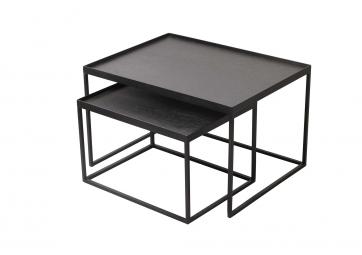 Set de 2 Tables Basses Rectangle Tray - ETHNICRAFT ACCESSOIRES