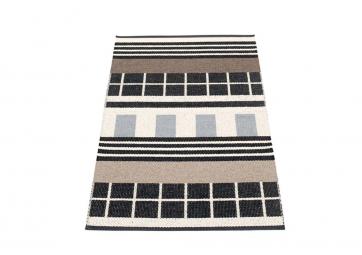 Tapis James - black white 70x120 cm - PAPPELINA