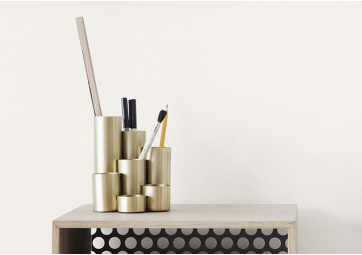 Porte-Crayons Brass - FERM LIVING