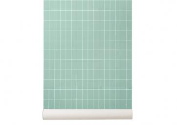 Papier Peint GRID Vert - FERM LIVING