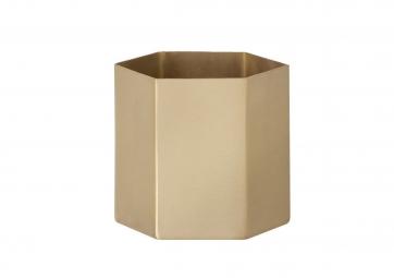 Pot Hexagone en laiton - FERM LIVING