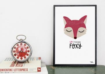 Affiche Foxy - MICHELLE CARLSLUND