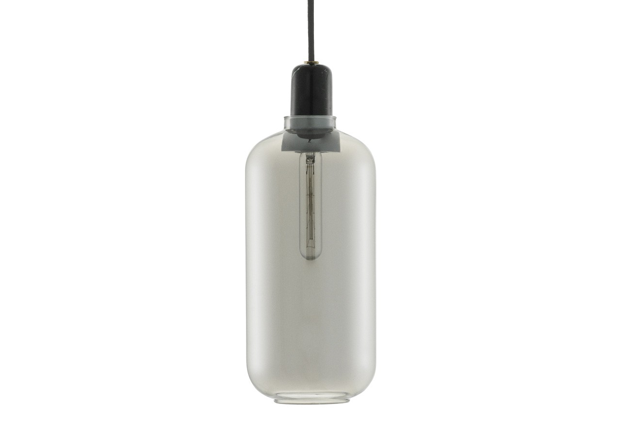 Lampe Amp Smoke/Black - Large - NORMANN COPENHAGEN