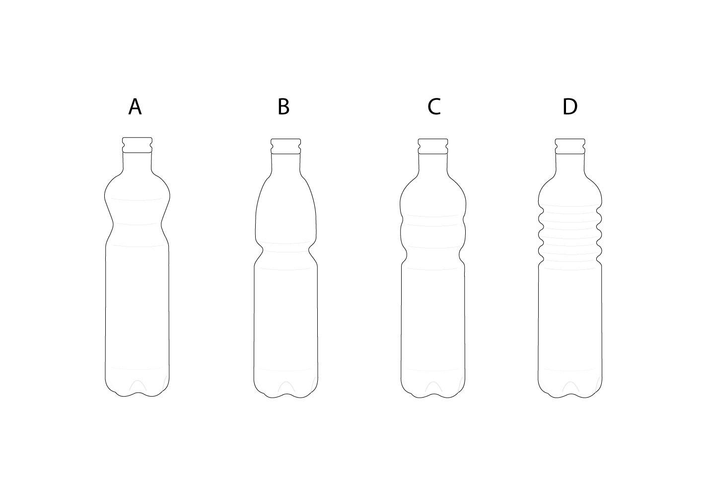 bouteille en verre design serax