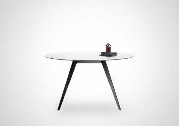 Table Aise ronde - Pieds Métal - TREKU