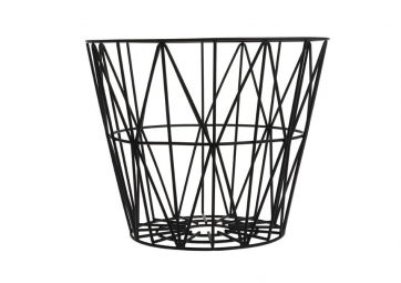 Corbeille WIRE noir - FERM LIVING