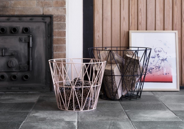 Corbeille Wire rose - FERM LIVING
