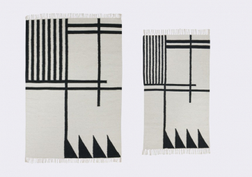 Tapis Kelim Black & White - FERM LIVING